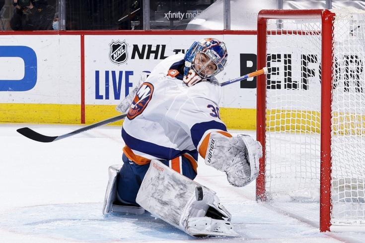 «Филадельфия» — «Айлендерс» — 1:2 ОТ, видео, Сорокин установил русский рекорд НХЛ для новичков