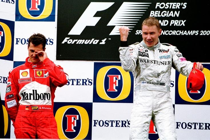 «Один из величайших обгонов в истории Формулы-1». Как Хаккинен обхитрил Шумахера в Спа