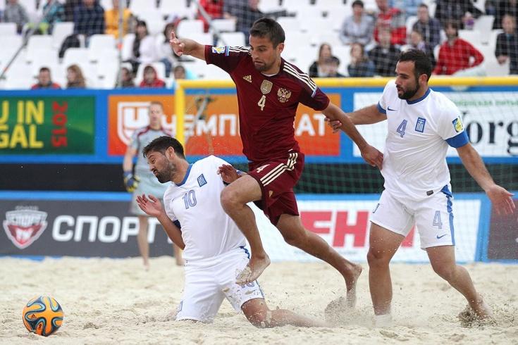 Пляжный футбол, Россия — Греция, Евролига-2017