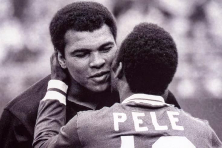 История фотографии Мохаммеда Али и Пеле. Прощальный матч Пеле
