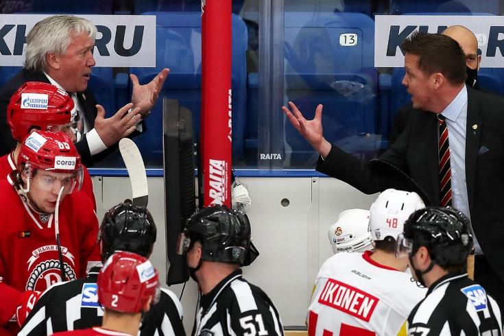 «Даже было желание подраться». Из-за чего в КХЛ поругались русский и финский тренеры