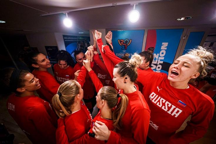 Женская сборная России разгромила Словению и вышла на Бельгию в четвертьфинале чемпионата Европы