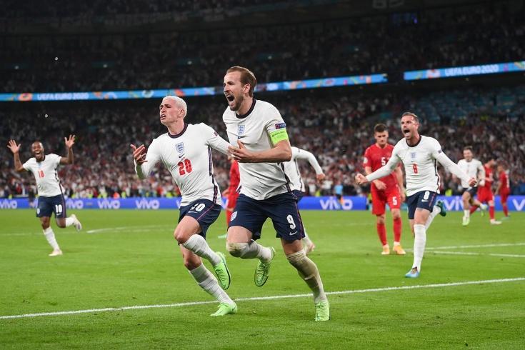 Англия - Дания 1/2 финала ЕВРО 2020 [Футбол]