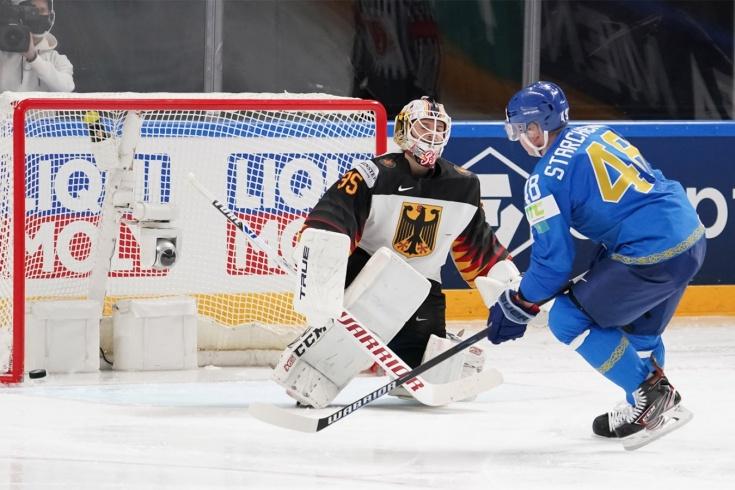 Казахстан — Германия — 3:2 — видео, голы, обзор матча чемпионата мира по хоккею — 2021