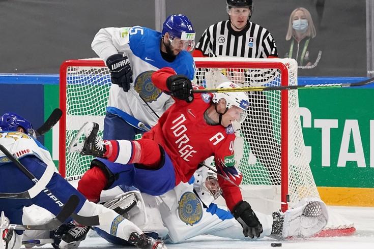 Норвегия – Казахстан – 3:1, видео, голы, обзор матча чемпионата мира по хоккею 2021