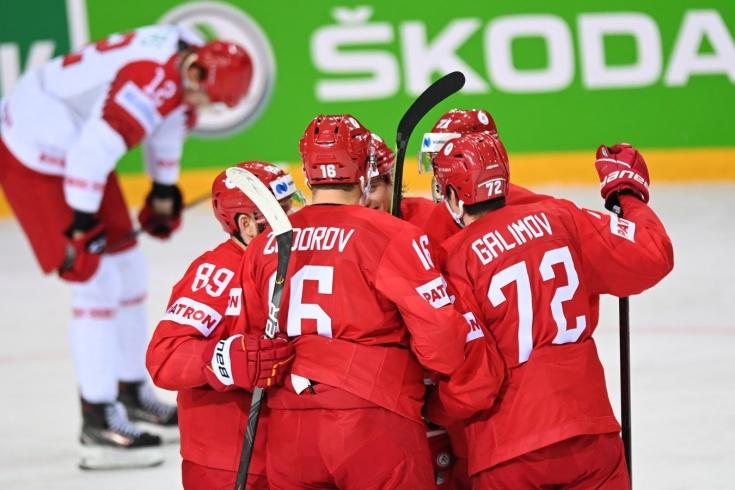 Россия — Беларусь — 6:0 — видео, голы, обзор матча чемпионата мира по хоккею — 2021