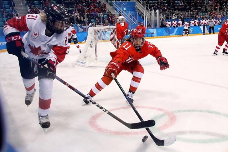 Женская сборная России по хоккею проиграла Канаде