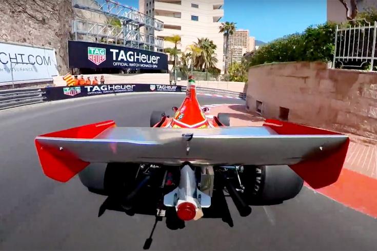 Как?! Круг «Феррари» по трассе в Монако сняли с уникального ракурса. Видео